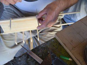 fabrication des cotés la caisse de la charrette