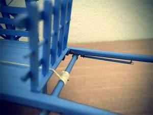 mécanisme du rouleau tendeur avec sa corde