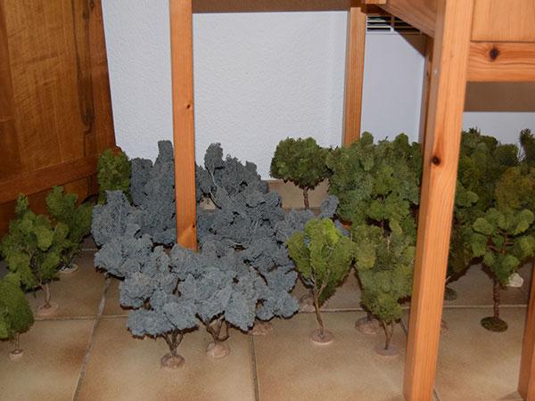 végétation a poser dans la crèche