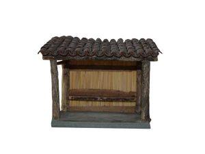 appantis avec toiture visible par dessous