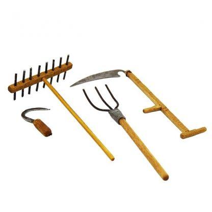 Lot outils paysan pour santon