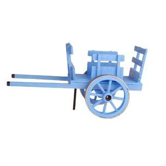 petite charrette couleur bleu