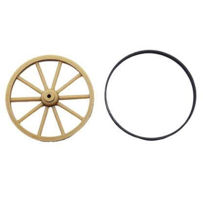 Une roue de charrette miniature 4 cm avec cerclage 2