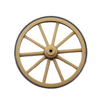 Une roue de charrette miniature 4 cm avec cerclage