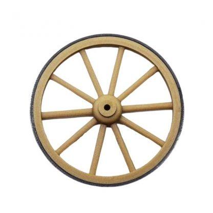 Une roue de charrette miniature 5 cm avec cerclage