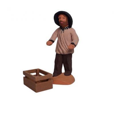 cagette miniature avec santon