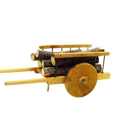 charrette a roues pleines avec bois