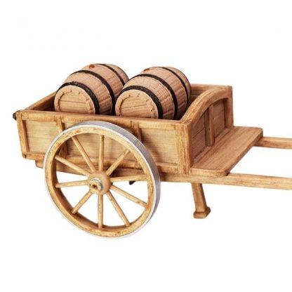 chariot avec tonneaux