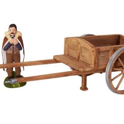 chariot miniature avec santon