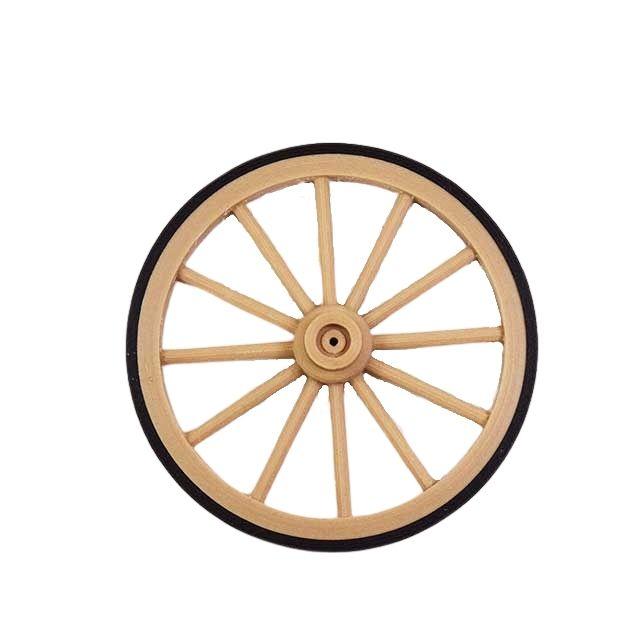 une roue de charrette miniature 7 cm avec cerclage