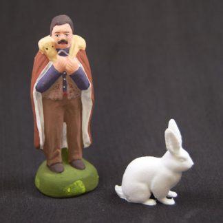 lapin calcaire avec santon
