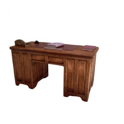 bureau professeur en bois vue arrière