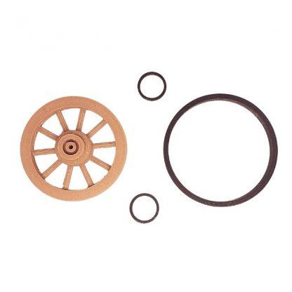 lot roues 40 mm double moyeu avec cercle