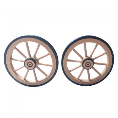 lot roues 50 mm double moyeu