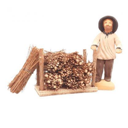 mini-fagots de bois avec santon