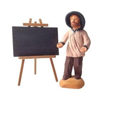 tableau d école miniature avec santon