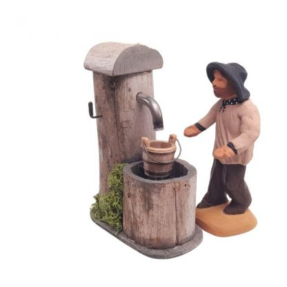 fontaine de berger miniature avec santon