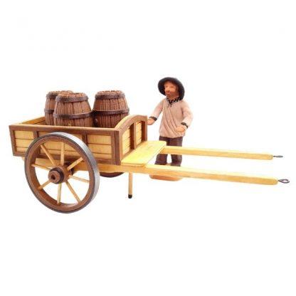 chariot deux couleurs avec santon